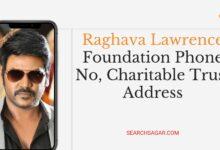Photo of Raghava Lawrence Foundation Phone No, Charitable Trust Address